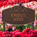 Whitehall Products Butterfly Blossom Personalized Garden Sign Metal, Size 16.0 H x 10.5 W x 3.75 D in | Wayfair 3060AC