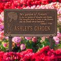 Whitehall Products Dianthus Personalized Garden SignMetal, Size 16.5 H x 8.63 W x 0.38 D in | Wayfair 2371AC