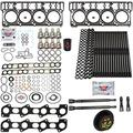 6.0L Revive Kit w/Aftermarket Head Gaskets Oil Cooler Stand Pipes In Ex Gaskets HP Oil Rail Cups - Fits Ford 6.0L 6.0 Powerstroke Kit - 2005.5-2007 (20MM) - DK Engine Parts (20-3R)
