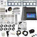 6.0L Revive Kit w/ARP Studs OE Head Gaskets Oil Cooler Stand Pipes HP Oil Rail Cups Gaskets Coolant Filtration Blue Kit- Fits Ford 6.0L Powerstroke Kit - 2003-2005.5 (18MM) - DK Engine Parts (18-4RA)