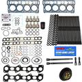 6.0L Revive Kit w/ARP OE Head Gaskets Oil Cooler Stand Pipes In Ex Gaskets HP Oil Rail Cups - Fits Ford 6.0L 6.0 Powerstroke Kit - 2003-2005.5 (18MM Dowel) - DK Engine Parts (18-3RA)