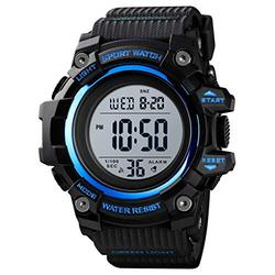 Skmei Digital Plastic Watches Pupils Wristwatch Waterproof Digital Watch Sport Watches for Men (Blue Small)