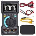 Bside EBTN LCD Digital Multimeter 3-Line Display Large Screen True RMS 8000 Counts Auto-Ranging DMM VFC Temperature Capacitance Volt Amp Ohm Hz Battery Tester with Analog Bar & Alligator Clip