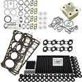 6.4L Revive Kit #3 w/Aftermarket Studs Head Gaskets Oil Cooler Int & Exh Gaskets - Fits Ford 6.4L 6.4 Powerstroke Kit - 2008-2010 - DK Engine Parts