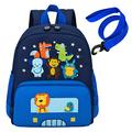 willikiva Cute Zoo Little 3d Backpack Kids Backpack for Boys and Girls Toddler Backpack Waterproof Preschool Safety Harness Leash (Blue Small Size,Age 1-2)