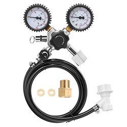 Beer CO2 Keg Regulator Safety Pressure Relief Valve 0-3000 PSI Tanks Pressure Co2 Pressure Regulator with Safety Pressure Relief Valve