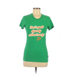 Old Navy Short Sleeve T-Shirt: Green Solid Tops - Size Small