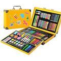 LUCKYFF Pièces 159 Crayons Colorier Art Set Aquarelle Crayon De Couleur Crayon À l'huile Pastel Pinceau Stylos | Feutres coloriage Adultes Enfants | Aquarelle Facile | Encre Non Toxique