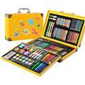 LUCKYGBY 159 Pièces De Crayons À Colorier Art Set Aquarelle Crayon De Couleur Crayon À l'huile Pastel Pinceau Stylos | Feutres coloriage Adultes Enfants | Aquarelle Facile | Encre Non Toxique