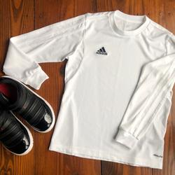Adidas Shirts & Tops   Adidas Youth Small Climalite Long Sleeve Top   Color: White   Size: Sb