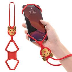 Bone Strap Phone Tie, Silicone Wrist Lanyard, Universal Cell Phone Wrist Lanyard Holder, Hand Strap Smartphone Case for iPhone 12 11 Pro Max XS XR X 8 7 6S Plus Samsung Galaxy S10 S9 S8 Note 10 9 Pixel 3 XL-Mr Deer