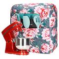 Stand Mixer Cover, Kitchenaid Mixer Cover with Beautiful Flowers Print,Mixer Cover Compatible with 6-8 Quart Kitchenaid Mixers/Hamilton Mixers/All Tilt Head Bowl Lift Models Stand mixer(Y03)