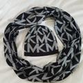 Michael Kors Accessories   Michael Kors Infinity Scarf And Hat   Color: Black/Gray   Size: 5415
