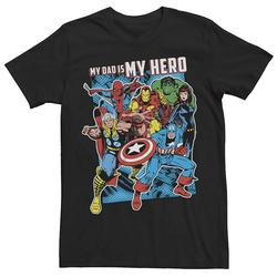 Men's Marvel Heros My Dad My Hero Father's Day Tee, Size: 3XL, Black