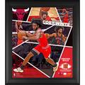 """Coby White Chicago Bulls Framed 15"""" x 17"""" Impact Player Collage with a Piece of Team-Used Basketball - Limited Edition 500"""