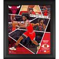 """Fanatics Authentic Coby White Chicago Bulls Framed 15"""" x 17"""" Impact Player Collage with a Piece of Team-Used Basketball - Limited Edition 500"""