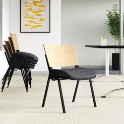 Upper Square™ Dalton Armless Multi-Purpose Stackable ChairWood/Metal/Fabric in Gray, Size 31.25 H x 21.0 W x 21.25 D in | Wayfair PL4IR