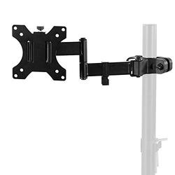 VIVO Steel Universal Full Motion Pole Mount Monitor Arm with Removable 75mm and 100mm VESA Plate, Fits 17 to 32 inch Screens, Black, MOUNT-POLE01A