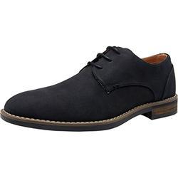 VOSTEY Men's Dress Shoes Black Dress Shoes for Men Casual Dress Shoes Formal Shoes for Men Business Casual Shoes Men Suede Shoes (BMY643 Black 9.5)
