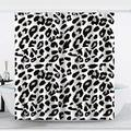 """Black & White Shower Curtain, Black Spot Shower Curtains Waterproof Polyester Fabric Black and White Unique Shower Curtain Set with Hooks Bathroom Decor 72"""" x 72"""" (72 x 72 inches, Fish 2)"""
