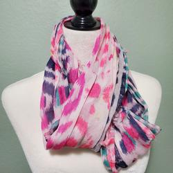 American Eagle Outfitters Accessories | American Eagle Multicolor Scarf | Color: Blue/Pink | Size: Os
