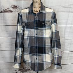 American Eagle Outfitters Shirts | American Eagle Outfitters Blue Gray Plaid Shirt M | Color: Blue/Gray | Size: M