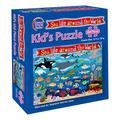 Round World Junior Sea Life Around The World Jigsaw Puzzle - Explore Sea Animals from Around The World with This Fun to Assemble 100 Piece 13-inch by 19-inch Puzzle for Children of All Ages