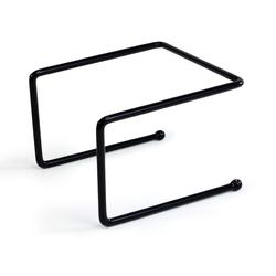 """Elite Global Solutions SS1210P-RC Pizza Stand - 7 1/2"""" x 7""""W x 5 1/2""""H, Rubber Coated Steel, Black"""