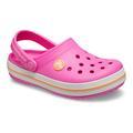 Crocs Electric Pink/Cantaloupe Kids' Crocband™ Clog Shoes