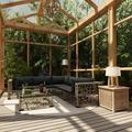 vidaXL 10 Piece Garden Lounge Set with Cushions Poly Rattan Gray