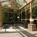 vidaXL 8 Piece Garden Lounge Set with Cushions Poly Rattan Gray