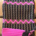 J. Crew Accessories | Cozy Cashmere Blend Winter Knit Scarf | Color: Green/Pink | Size: 84x 10