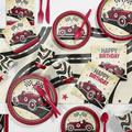 Creative Converting Vintage Race Car Party Supplies Kit for 8 GuestsHeavy Duty Paper in Black/Red | Wayfair DTC5608E2A