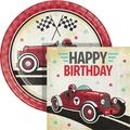 Creative Converting Vintage Race Car Party Supplies Kit for 24 GuestsHeavy Duty Paper in Black/Gray/Red | Wayfair DTC5608E2C