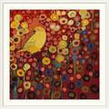 Red Barrel Studio® Nolani Canary in Red by Jennifer Lommers - Print in Brown, Size 38.0 H x 38.0 W x 0.75 D in | Wayfair 1021326_21_30x30