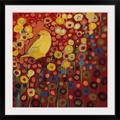 Red Barrel Studio® Nolani Canary in Red by Jennifer Lommers - Print in Brown, Size 38.0 H x 38.0 W x 0.75 D in | Wayfair 1021326_15_30x30