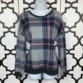 American Eagle Outfitters Tops   3 For $15 Aeo Plaid Sweatshirt   Color: Blue/Gray   Size: L