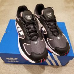 Adidas Shoes | Adidas Women Originals Falcon 2000 Casual Shoe | Color: Black/Red | Size: Various