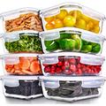 Prep Naturals Glass Meal Prep Containers - Food Prep Containers with Lids Meal Prep - Food Storage Containers Airtight - Lunch Containers Portion Control Containers Bpa-Free (8 Pack,35 Ounce)