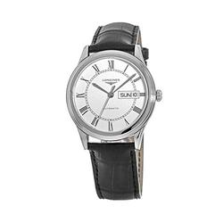 Longines Flagship Automatic White Dial Black Leather Men's Watch L4.899.4.21.2