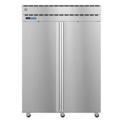 "Hoshizaki PT2A-FS-FS SteelHeart 55"" Two Section Pass Thru Refrigerator - (2) Right Hinge Solid Doors, 115v"