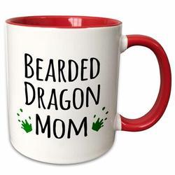 "East Urban Home Bearded Dragon Mom Coffee Mug, Capacity: 15 oz, Theme: Bearded Dragon Mom, Ceramic in Red, Size 3""H X 3""W X 4""D | Wayfair"