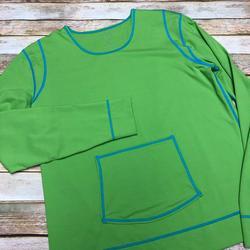 Athleta Swim   Athleta Summer Shade Rash Guard Surf Top Coverup   Color: Blue/Green   Size: L