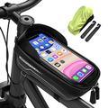LEMEGO Bike Phone Front Frame Bag Waterproof Bicycle Bag Top Tube Bike Bags Phone Mount Pack Phone Case for 6.5'' iPhone 11 XS Max XR,Cycling Phone Mount Bag, Bike Accessories