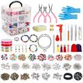 Jewelry Making Kit,Jewelry Making Supplies Includes Jewelry Pliers, Beading Wire, Jewelry Beads and Charms Findings for Jewelry Necklace Earring Bracelet Making Repair Adult Jewelry Making Tools Kits