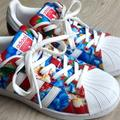 Adidas Shoes   Adidas X The Farm Originals Superstar Women'S 5.5 New   Color: Blue/Red   Size: 5.5