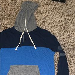 American Eagle Outfitters Shirts | American Eagle Outfitters Mens Ls Tee Size M | Color: Blue/Gray | Size: M