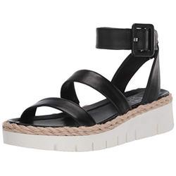 Franco Sarto Women's Jackson Wedge Sandal, Black, 5.5