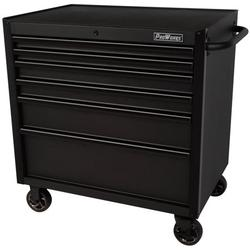 ProWorks 36-Inch Wide x 24.5-Inch Deep 6-Drawer Rolling Tool Cabinet, Garage Use