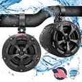 Waterproof Off-Road Speakers with Amplifier - 4 Inch 800W 2-Channel Marine Grade Wakeboard Tower Speakers System Full Range Outdoor Audio Stereo Speaker for ATV, UTV, Quad, Jeep, Boat - Pyle PLUTV42CH